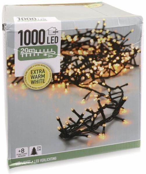 LED-Büschellichterkette Cluster, 1000 LEDs, bernstein, 230V~, IP44, 23 m - Produktbild 3