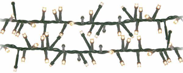LED-Büschellichterkette Cluster, 1200 LEDs, bernstein, 230V~, IP44, 27 m