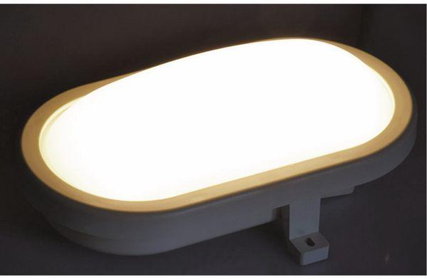 LED-Oval-Leuchte 22264, EEK: G, 6 W, 480 lm, 3000 K, 170 mm, grau - Produktbild 3