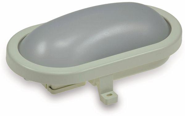 LED-Oval-Leuchte 22266, EEK: G, 12 W, 960 lm, 3000 K, 216 mm, grau
