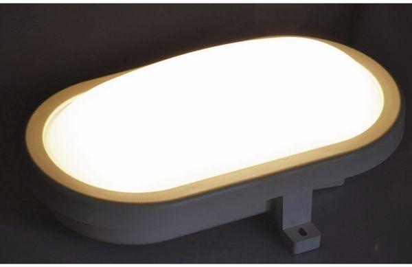 LED-Oval-Leuchte 22266, EEK: A+, 12 W, 960 lm, 3000 K, 216 mm, grau - Produktbild 3