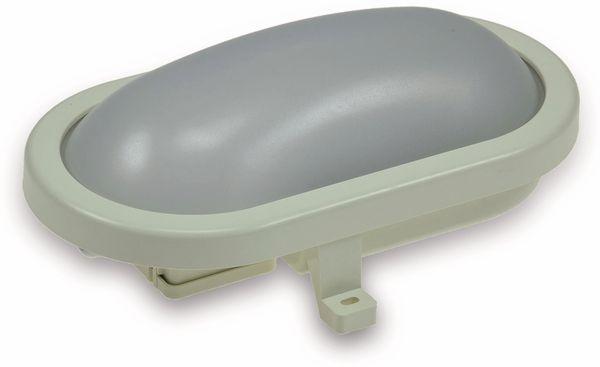 LED-Oval-Armatur 2227, EEK: A+, 12 W, 1000 lm, 4200 K, 216 mm, grau