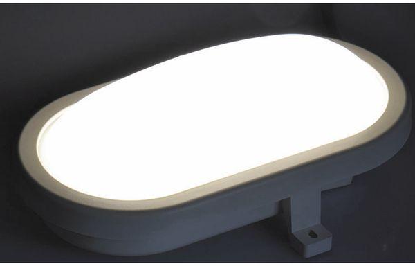 LED-Oval-Armatur 2227, EEK: A+, 12 W, 1000 lm, 4200 K, 216 mm, grau - Produktbild 3