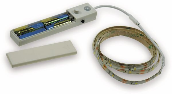 LED Strip mit Bewegungsmelder, 4000K, Batteriebetrieb, 100 cm - Produktbild 2