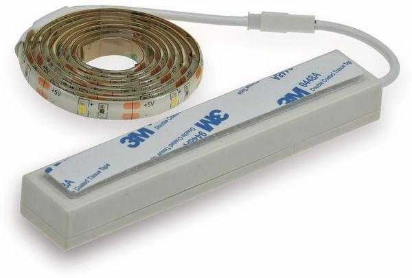 LED Strip mit Bewegungsmelder, 4000K, Batteriebetrieb, 100 cm - Produktbild 3
