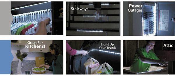 LED Strip mit Bewegungsmelder, 4000K, Batteriebetrieb, 100 cm - Produktbild 6