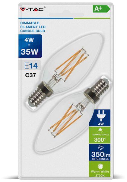 LED-Lampe VT-2134D, E14, EEK: A+, 4 W, 350 lm, 2700 K, dimmbar, 2 Stück