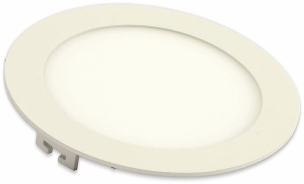LED-Einbauleuchte VT-1207 Round, EEK: A, 12 W, 1000 lm, 3000K,rund, weiß