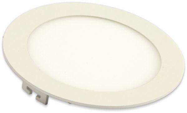 LED-Einbauleuchte VT-1207 Round, EEK: F, 12 W, 1000 lm, 3000K,rund, weiß