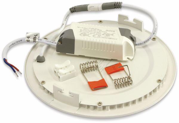 LED-Einbauleuchte VT-1207 Round, EEK: F, 12 W, 1000 lm, 3000K,rund, weiß - Produktbild 2