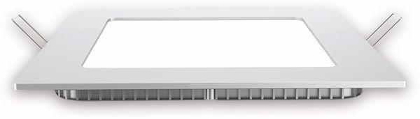 LED-Einbauleuchte VT-1207 Square, EEK: F, 12 W, 1000 lm, 4500K,eckig, weiß