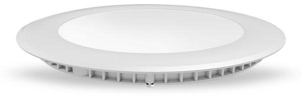 LED-Einbauleuchte VT-1807 Round, EEK: F, 18 W, 1500 lm, 3000K,rund, weiß