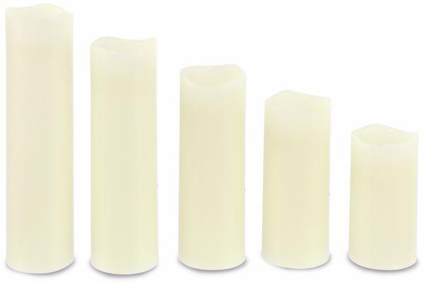 LED-Echtwachskerzen 5 Stück, verschiedene Größen