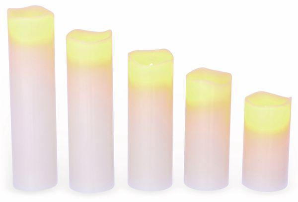 LED-Echtwachskerzen 5 Stück, verschiedene Größen - Produktbild 2