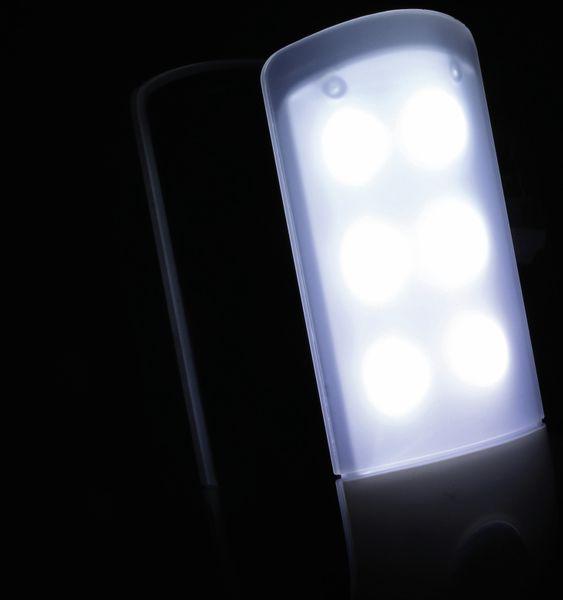 LED-Nachtlicht DAYLITE NL-84040 mit PIR, silber/schwarz - Produktbild 6