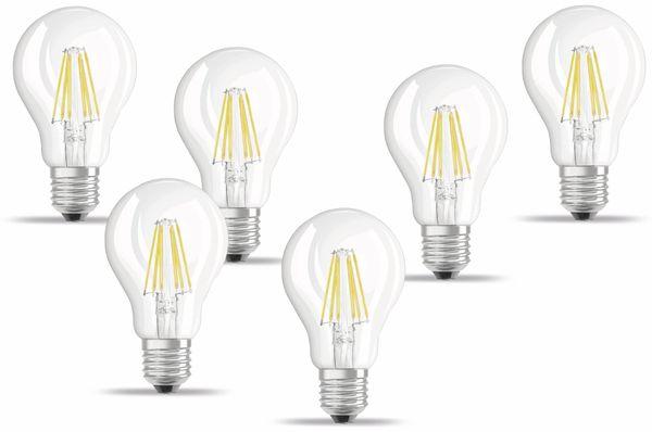 LED-Lampe OSRAM BASE CLASSIC A, E27, EEK: A++, 7 W, 806 lm, 2700 K, 6 Stück