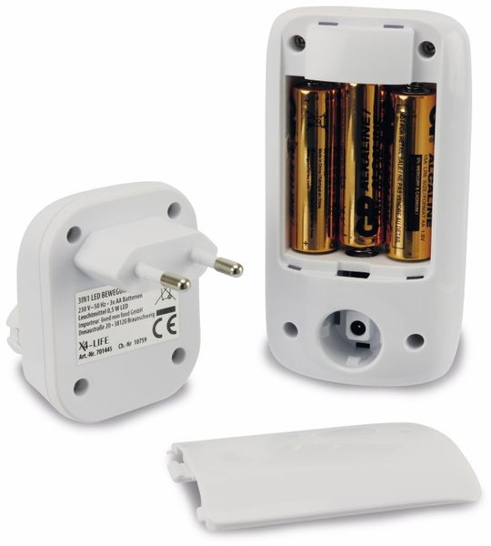 LED Nachtlicht X4-LIVE mit Bewegungsmelder 3 in1, weiß - Produktbild 5