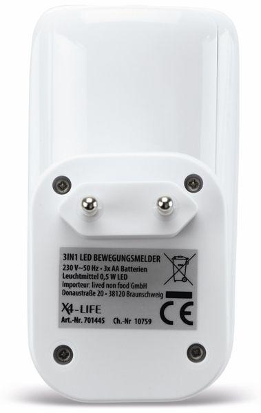 LED Nachtlicht X4-LIVE mit Bewegungsmelder 3 in1, weiß - Produktbild 6