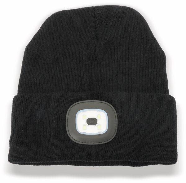 Beanie Mütze mit 4 LEDs 120lm schwarz - Produktbild 1