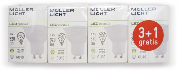 LED-Lampe MÜLLER-LICHT, GU10, EEK: A+, 5 W, 320 lm, 2700 K, 4 Stück - Produktbild 2
