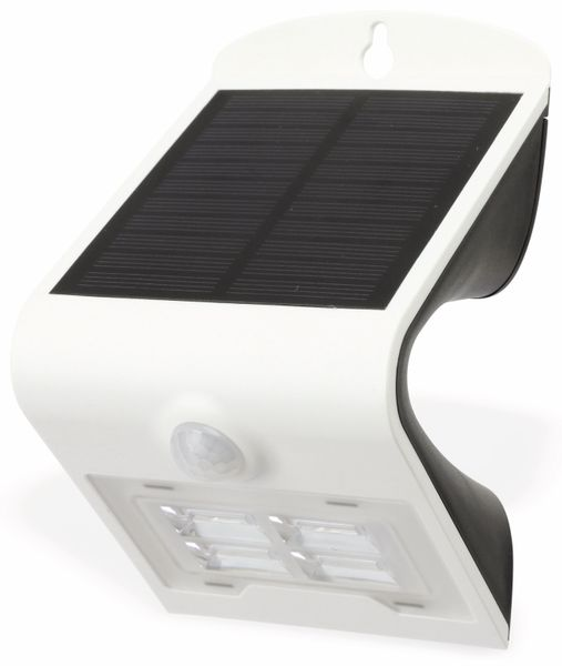 Solar-LED Wandleuchte BRIGHT mit Sensor, 2W, weiß - Produktbild 1