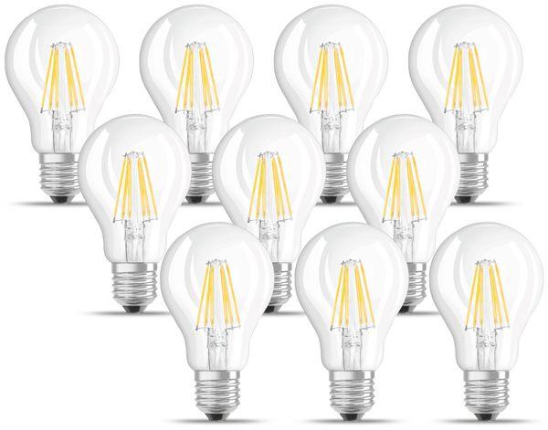 LED-Lampe OSRAM BASE CLASSIC A, E27, EEK: A++, 7 W, 806 lm, 2700 K, 10 Stk.