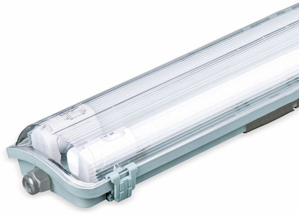 LED-Feuchtraum-Wannenleuchte ,V-TAC VT-12023 (6399) EEK: A+, 2x 18 W, 6400K