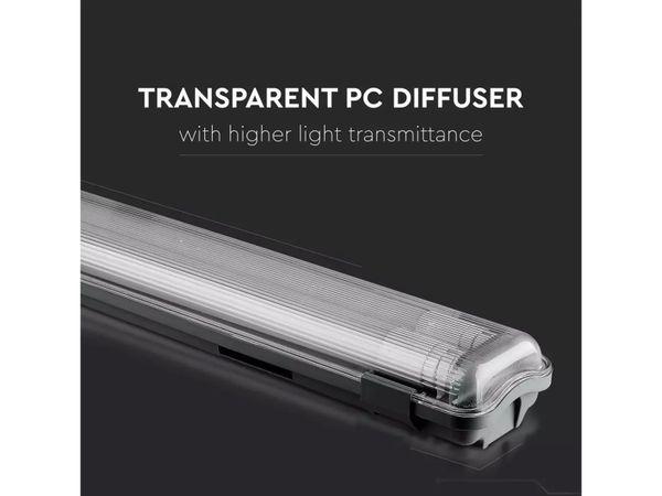 LED-Feuchtraum-Wannenleuchte ,V-TAC VT-12023 (6399) EEK: A+, 2x 18 W, 6400K - Produktbild 7
