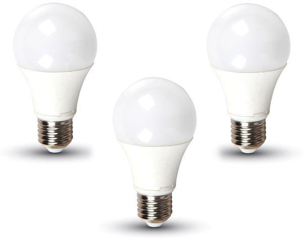 LED-Lampe VT-2113(7352), E27, EEK: F, 11 W, 1055 lm, 2700 K, 3 Stück