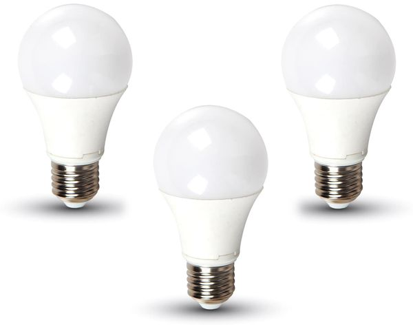 LED-Lampe VT-2113(7354), E27, EEK: A+, 11 W, 1055 lm, 6400 K, 3 Stück