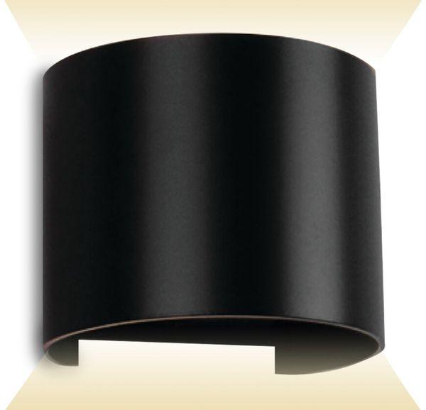 LED-Wand Leuchte V-TAC VT-756 (7090), EEK: A++, 6 W, 660 lm, 4000 K, schw.