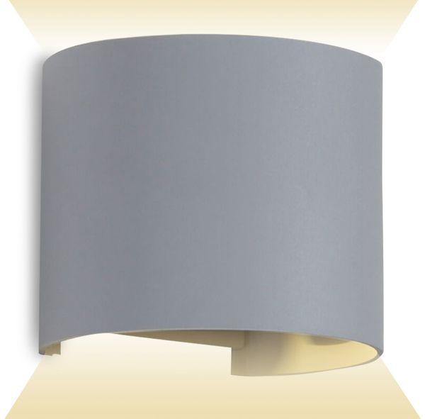 LED-Wandleuchte V-TAC VT-756 (7092), EEK: A++, 6 W, 660 lm, 4000 K, grau