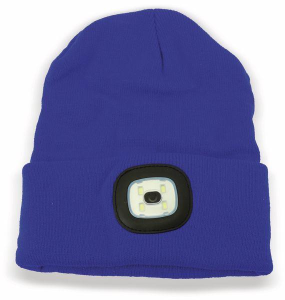 Beanie Mütze mit 4 LEDs, 120lm, blau