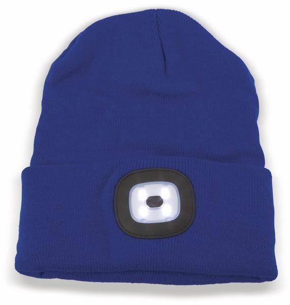 Beanie Mütze mit 4 LEDs, 120lm, blau - Produktbild 2
