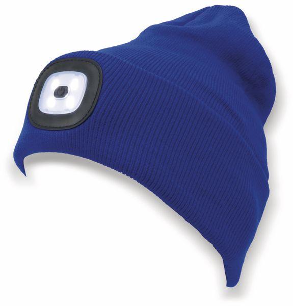 Beanie Mütze mit 4 LEDs, 120lm, blau - Produktbild 3