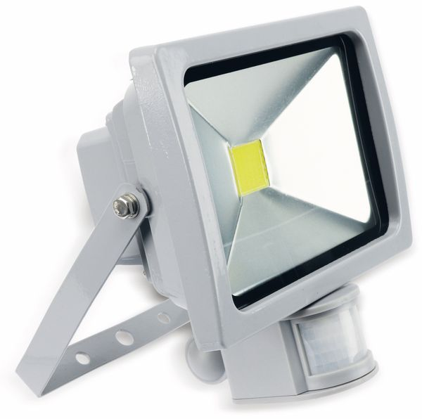 LED-Fluter mit Bewegungsmelder ZTLG, EEK: A, 20 W, 1300 lm, grau, B-Ware - Produktbild 1