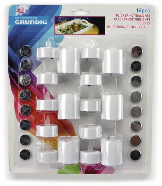LED-Flackerkerzen-Set GRUNDIG, 16 Stück - Produktbild 3