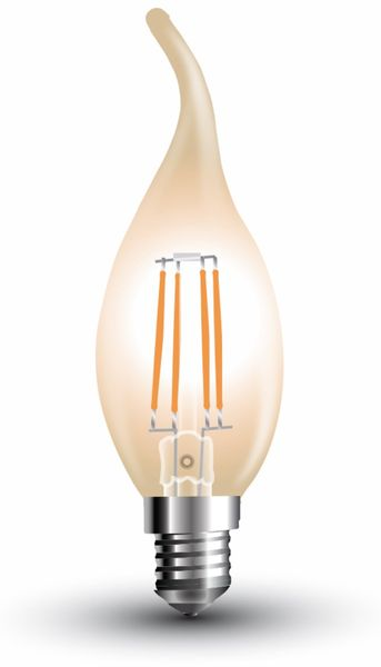 LED-Lampe V-TAC Amber, VT-1949(7114), E14, EEK: A+, 4 W, 350 lm, 2200 K