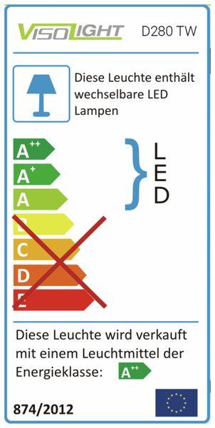 LED-Deckenleuchte DAYLITE D280 TW, EEK: A+, 23W, 2100 lm, 2200…5000K - Produktbild 4
