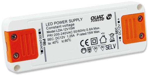 LED-Schaltnetzteil QUATPOWER LN 12V15W, 12 V-, 15 W