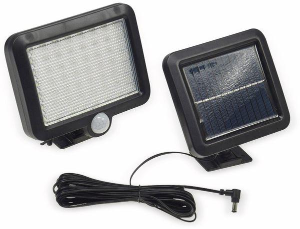 Solar LED-Fluter mit Bewegungsmelder, 5,5 W, 450 lm, 4200 K, schwarz - Produktbild 1