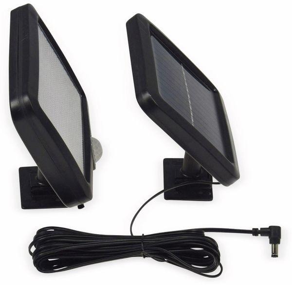 Solar LED-Fluter mit Bewegungsmelder, 5,5 W, 450 lm, 4200 K, schwarz - Produktbild 3