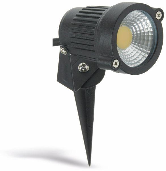 LED-Gartenleuchte- CT-GS5 COB, EEK: F, 5 W, 430 lm, 2900 K, schwarz