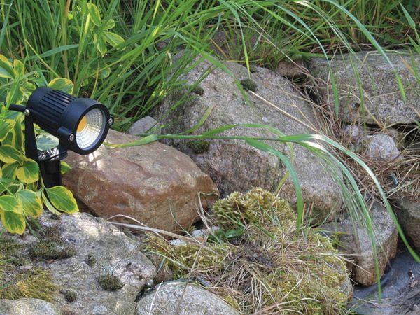 LED-Gartenleuchte- CT-GS5 COB, EEK: F, 5 W, 430 lm, 2900 K, schwarz - Produktbild 3