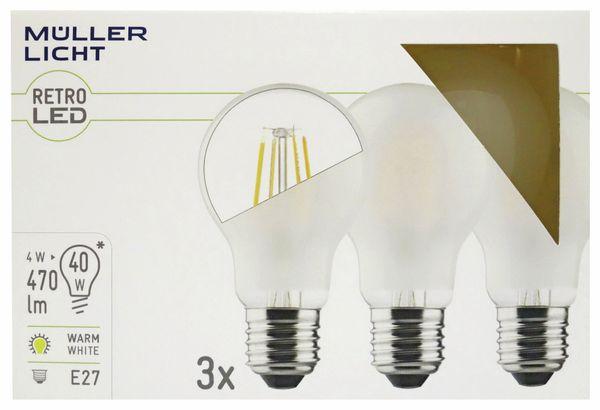 LED-Lampe MÜLLER-LICHT, E27, EEK: E, 4 W, 470 lm, 2700 K, matt, 3 Stück - Produktbild 2