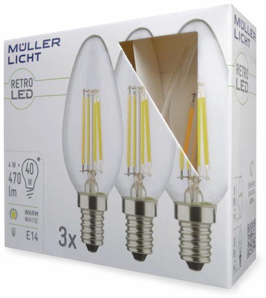 LED-Lampe MÜLLER-LICHT 400291, E14, EEK: A++, 4 W, 470 lm, 2700 K, 3 Stück - Produktbild 2