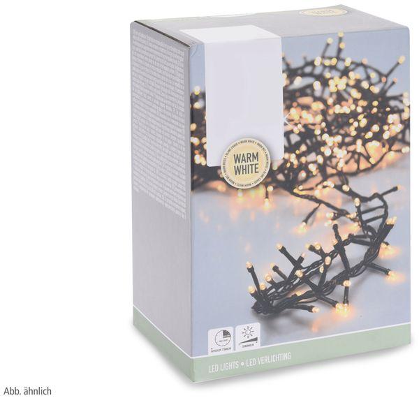 LED-Büschellichterkette ,400 LEDs, warmweiß, 230V~, IP44, 11 m, Timer - Produktbild 3