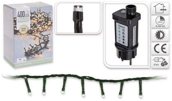 LED-Büschellichterkette ,400 LEDs, warmweiß, 230V~, IP44, 11 m, Timer - Produktbild 4