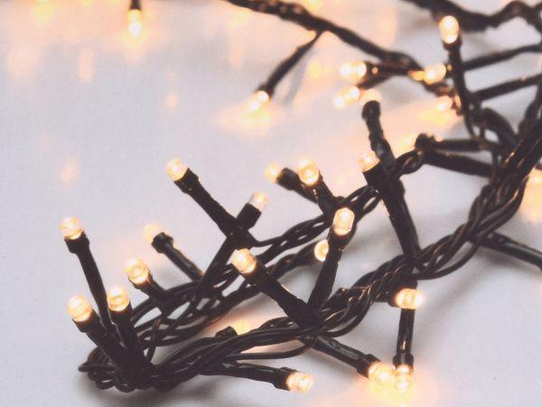 LED-Büschellichterkette, 700 LEDs, warmweiß, 230V~, IP44, 17 m, Timer