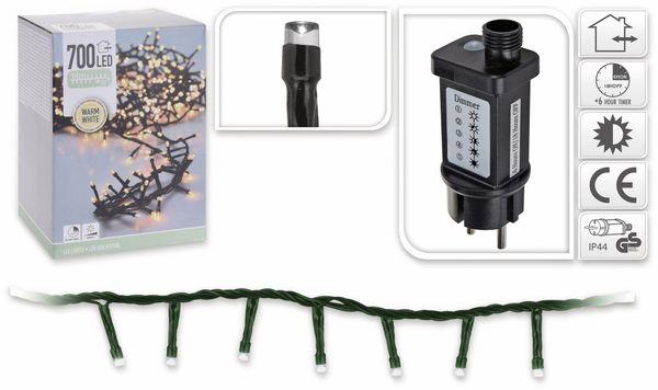 LED-Büschellichterkette, 700 LEDs, warmweiß, 230V~, IP44, 17 m, Timer - Produktbild 5